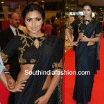 Amala Paul in Black Saree at SIIMA 2015