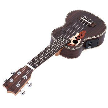 """Ammoon Alta Qualidade Abeto Ukelele 21 """"Acústico Uke Ukulele 4 Cordas Hawaii guitarra Instrumento Musical com Embutido EQ Captador"""