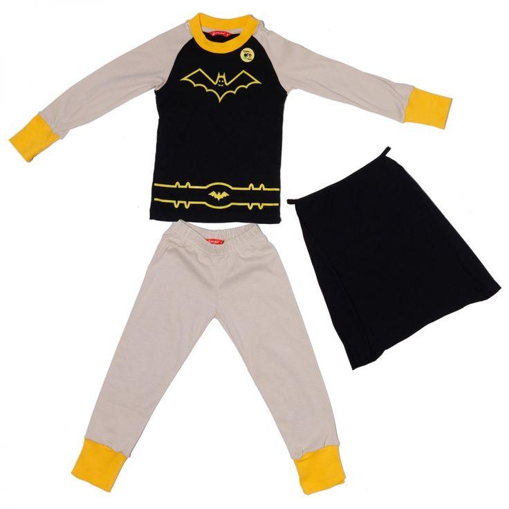 Πιτζάμα Ήρωας Νυχτερίδα Μακρυμάνικη 12 μηνών — lamajama — Babyglitter