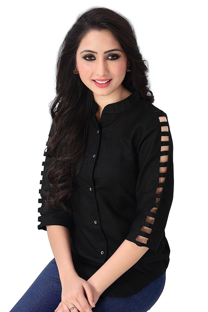 3f9b94e16737 Buy Online Black Rayon Top For Women's At Best Price In India! #top #shirts