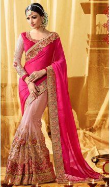 Deep Pink Color Satin Embroidery Designer Saree | FH583986196 Follow us @heenastyle #saree #sari #sarees #sareelove #sareeindia #indiansaree #designersaree #sareeday #silksaree #lehengasaree #designersarees #sareesilk #weddingsaree #sareeblouse #sareefashion #ethnicwear #georgette #partywear #latestfashion #latestdesign #newfashionsaree #newdesigsaree #goldenbordersaree #instafashion #designersaris #heenastylesaree #heenastyle