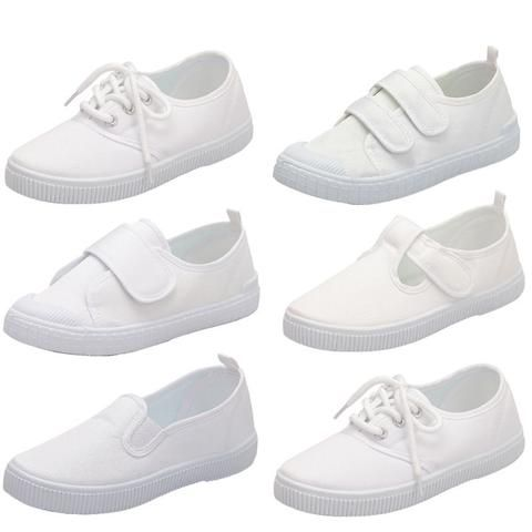 canvas shoes, Girls white sneakers