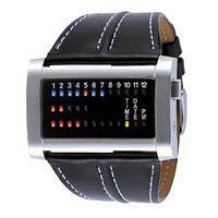 El Reloj The One Ibiza Ride es un reloj binario rectangular con caja de acero inoxidable y correa de piel estilo casual. Es un reloj unisex con lectura binaria mediante leds de colores y un diseño muy especial. www.relojes-especiales.net
