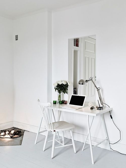 white workspace - simple and cozy