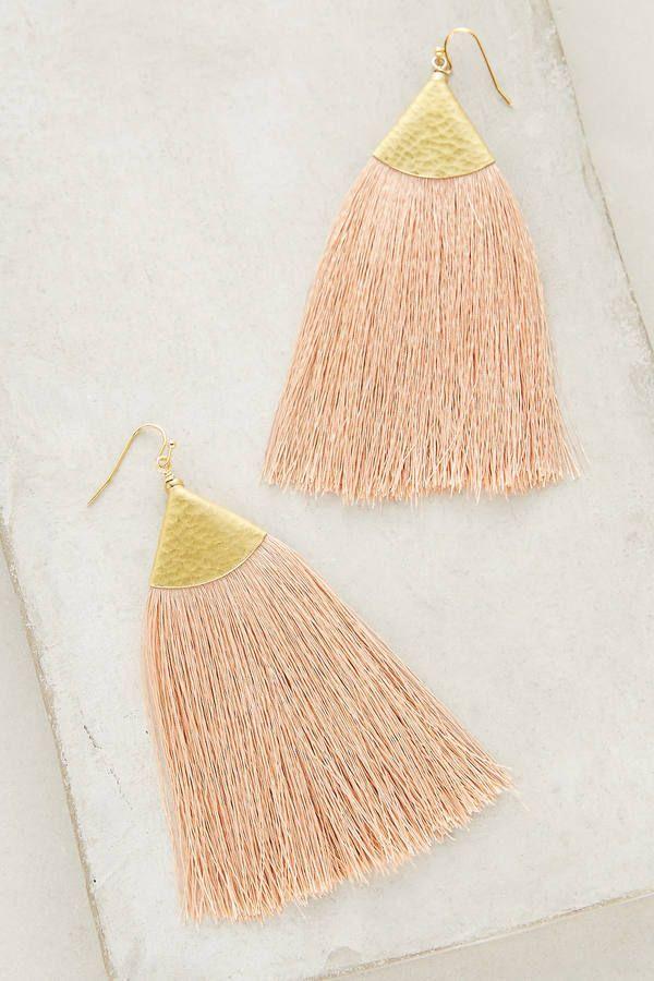 Nakamol Serenite Tassel Earrings - Soft Peach