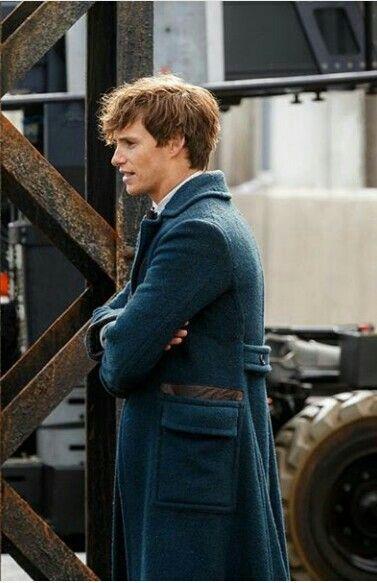 Newt Scamander played by Eddie Redmayne.