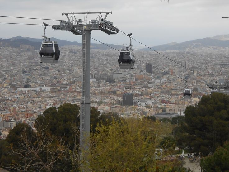 Prendre le téléphérique de Montjuic avec des enfants