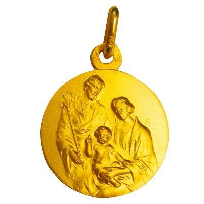 Médaille La crèche (plaqué or)