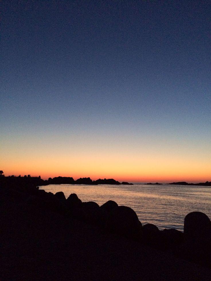 sunrise of port