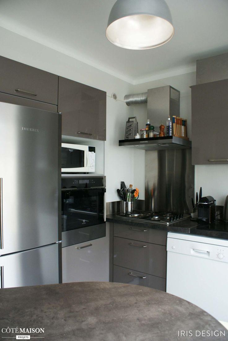Une cuisine d'appartement toute grise !