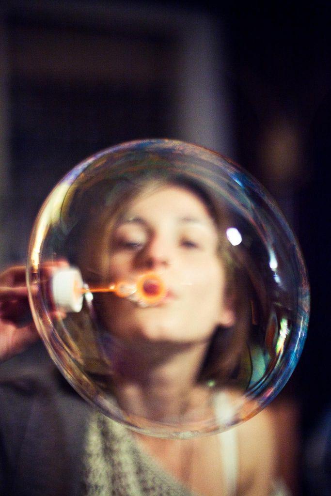 the world through a bubble.