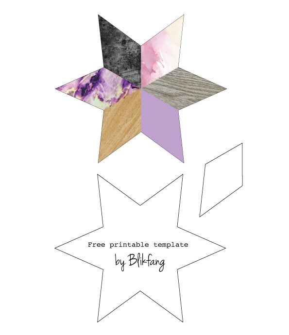 DIY: Free printable star template by Blikfang