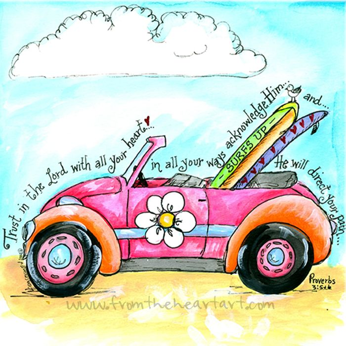 Pink VW Punch Bug (Proverbs 3:5-6)