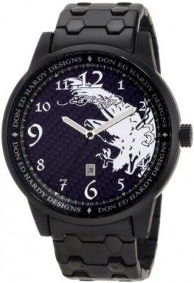Relógio Ed Hardy Men's MD-BK Midnight Black Watch #relogio #edHardy