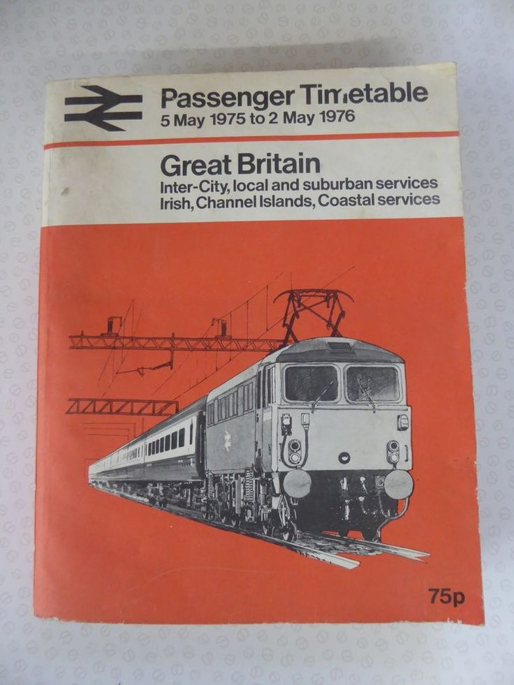 British Rail Inter City Great Britain Passenger Timetable May 1975 - May 1976