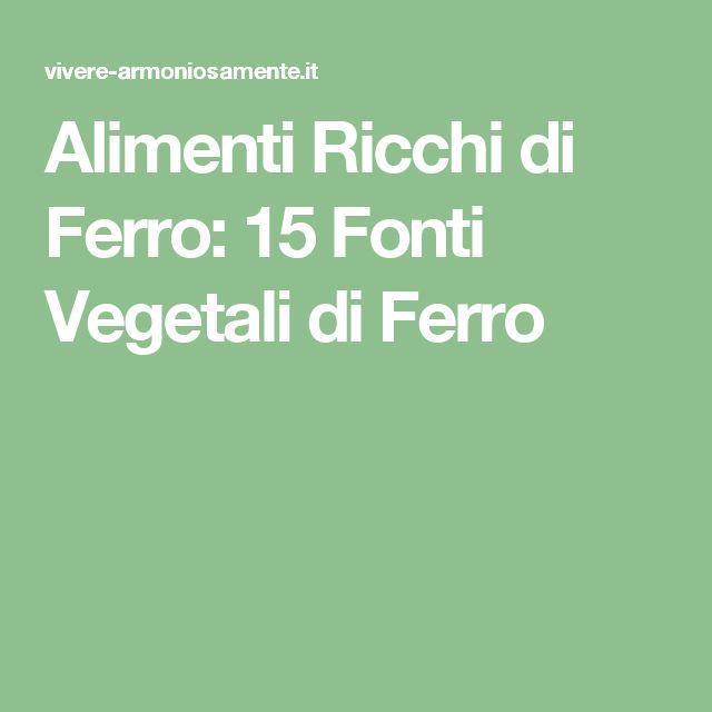Connu Oltre 25 fantastiche idee su Alimenti ricchi di ferro su Pinterest  GY56