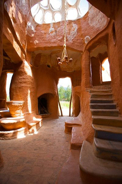 """Villa de Leyva or Casa Terracota – the ceramic house – was built by Colombian architect Octavio Mendoza. It was made by sculpting the building out of clay then firing it in high temperature making it resistant to water, damage from earthquakes, and comfortably cool in hot climates."""