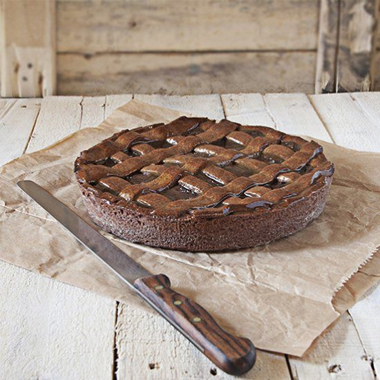 A rich and decadent chocolate tart