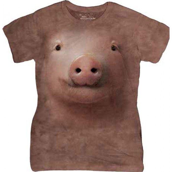 Tricouri The Mountain – Tricou Pig Face Dama