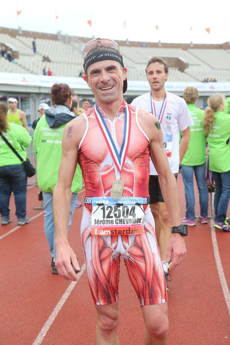 tri finish - triathlon happy smille on face