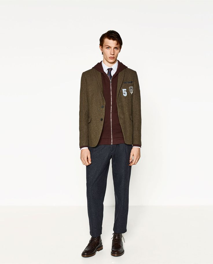 Image 1 of PATCH WOOL BLAZER from Zara