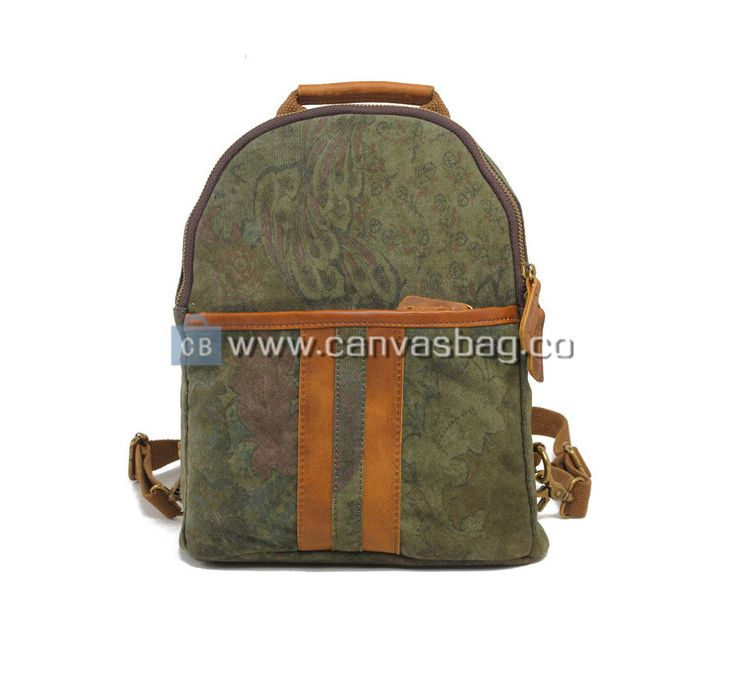 Travel Backpack | Genuine Leather Canvas Bag Wholesale