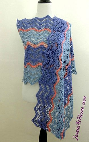 Chevron Lace Shawl Crochet Pattern : 1149 best images about PONTO ZIG-ZAG OU ONDAS NO CROCHE ...