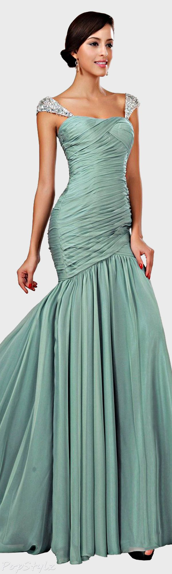 Beaded Cap Sleeve Gown. This is beautiful.