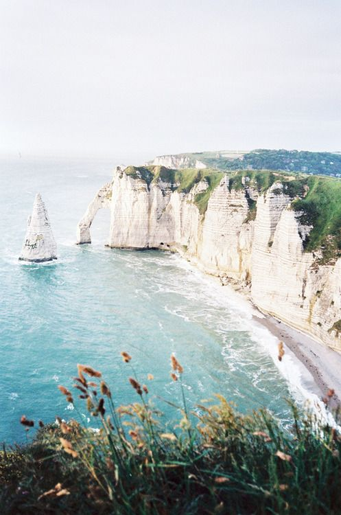 Étretat, Normandy, France. We have been there, it was absolutely beautiful! #summer13