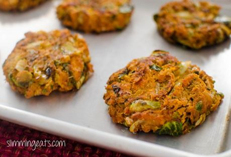 Salmon, Brussels and Squash Patties | Slimming Eats - Slimming World Recipes   Paleo friendly, gluten free, dairy free and sugar free