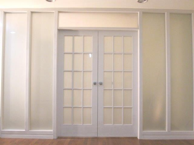 Frosted french doors master pinterest - Frosted glass french doors interior ...