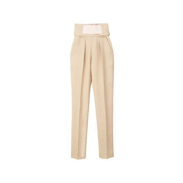 BALENCIAGA ❤ liked on Polyvore featuring pants, balenciaga, bottoms, pantaloni, balenciaga pants and beige pants