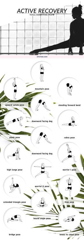 Turn your rest days into active recovery and maximize your body's repair with this 19-minute yoga essential flow. Take deep breaths to increase blood flow, and lengthen your muscles and tendons to increase your body's mobility and flexibility. https://www.spotebi.com/yoga-sequences/active-recovery-flow/