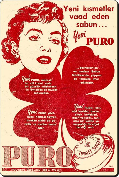 1950'li yıllardan bir sabun reklamı