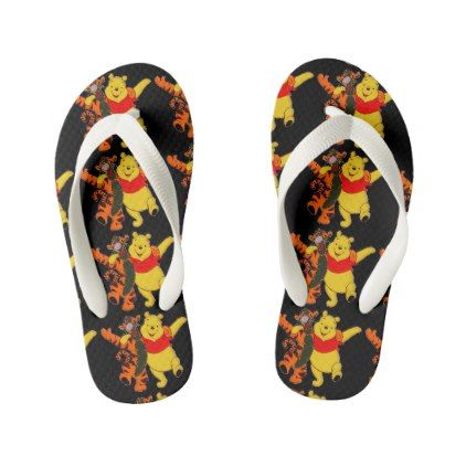 Winnie The Pooh Kid's Flip Flops - kids kid child gift idea diy personalize design