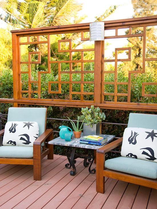 Die besten 25+ Holzgitter Ideen auf Pinterest Gitter Ideen - gestaltungstipps terrasse im garten
