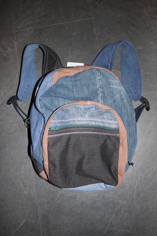 Up-cycled Jeans Large Rucksack