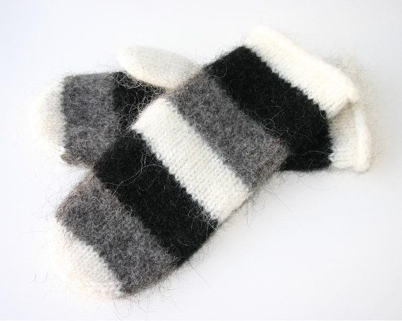 Made to order  Unisex Felted Icelandic Wool Mittens by Maggadora, $37.00