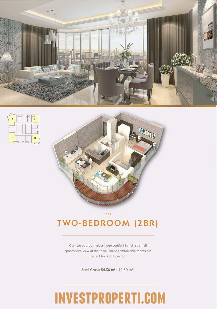 Tipe 2BR Apartemen The Noble Alam Sutera