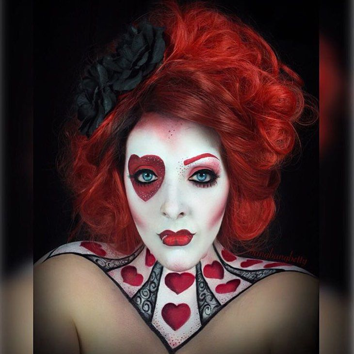 "237 Likes, 2 Comments - Espionage Cosmetics (@espionage_cosmetics) on Instagram: ""Queen of Hearts! This look of the day is brought to you by Nerd Makeup Ambassador and MUA…"""