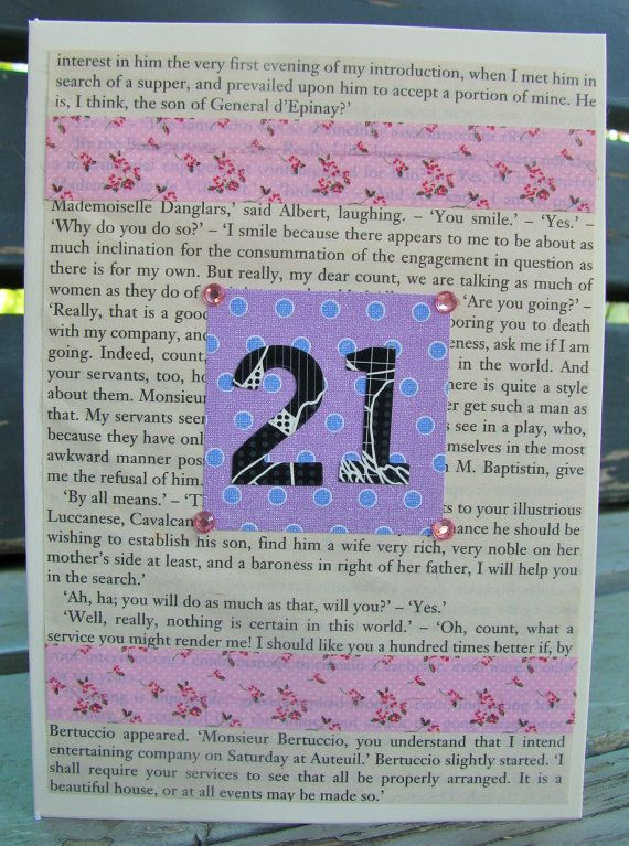 21st Birthday Card  handmade card birthday by RogueKissedCraft