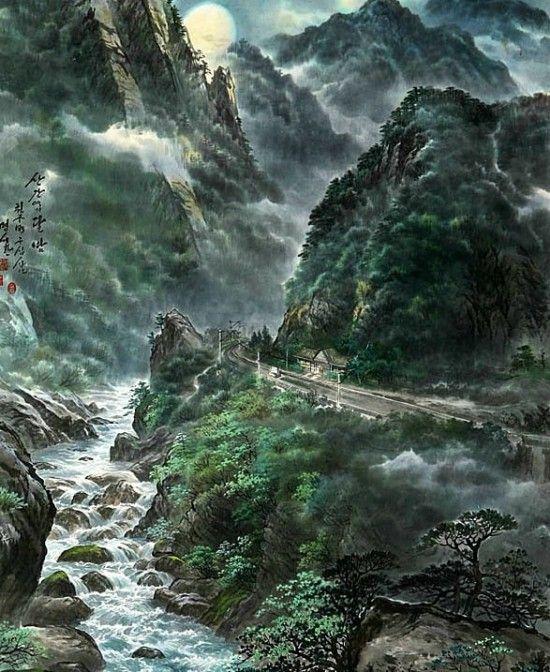 Пейзажи корейских художников