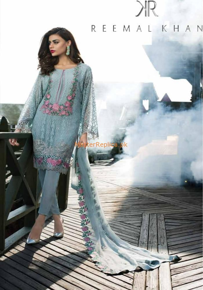 c22212e4e8 Check Out Reemal Khan Luxury Embroidered Chiffon Collection Replica at  Master Replica Pakistan Call/WhatsApp: +923322622227 #pakiclothing ...
