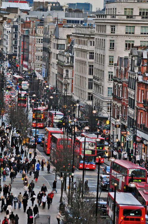 Oxford Street,London- Europe's longest shopping street! #doubledecker #London #shopping