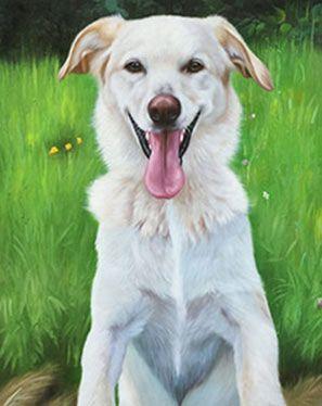 Foto als echtes Gemälde! Jetzt den eigenen Hund malen lassen!