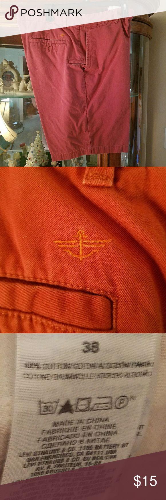 Docker Men's Khaki Shorts Like New Color - Light Red Size - 38w Dockers Shorts