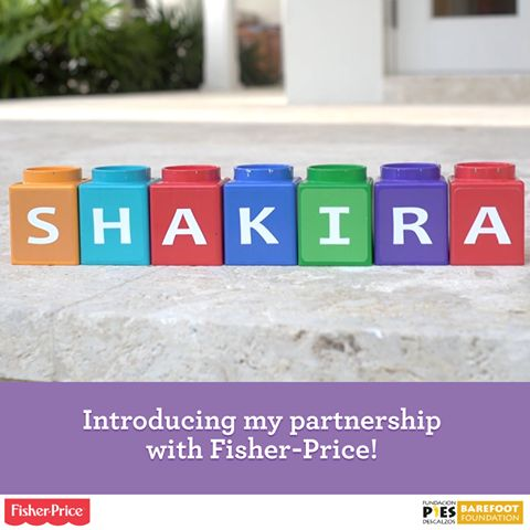 SHAKIRA- As an advocate of early childhood education and a mom, I'm so excited to share my latest passion project! I've teamed up with Fisher-Price to help give babies the #BestPossibleStart and support Fundación Pies Descalzos! Shak
