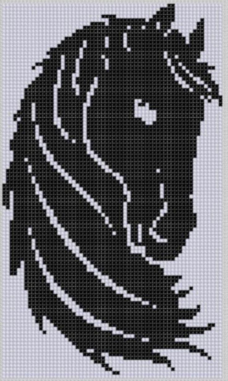 Horse Head Cross Stitch Pattern | Craftsy
