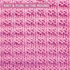 Knit Dimple Stitch In The Round : 118 best images about Knitting Stitches on Pinterest Ribs, Lace and Knittin...
