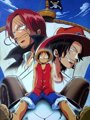 Luffy, Ace and Shanks